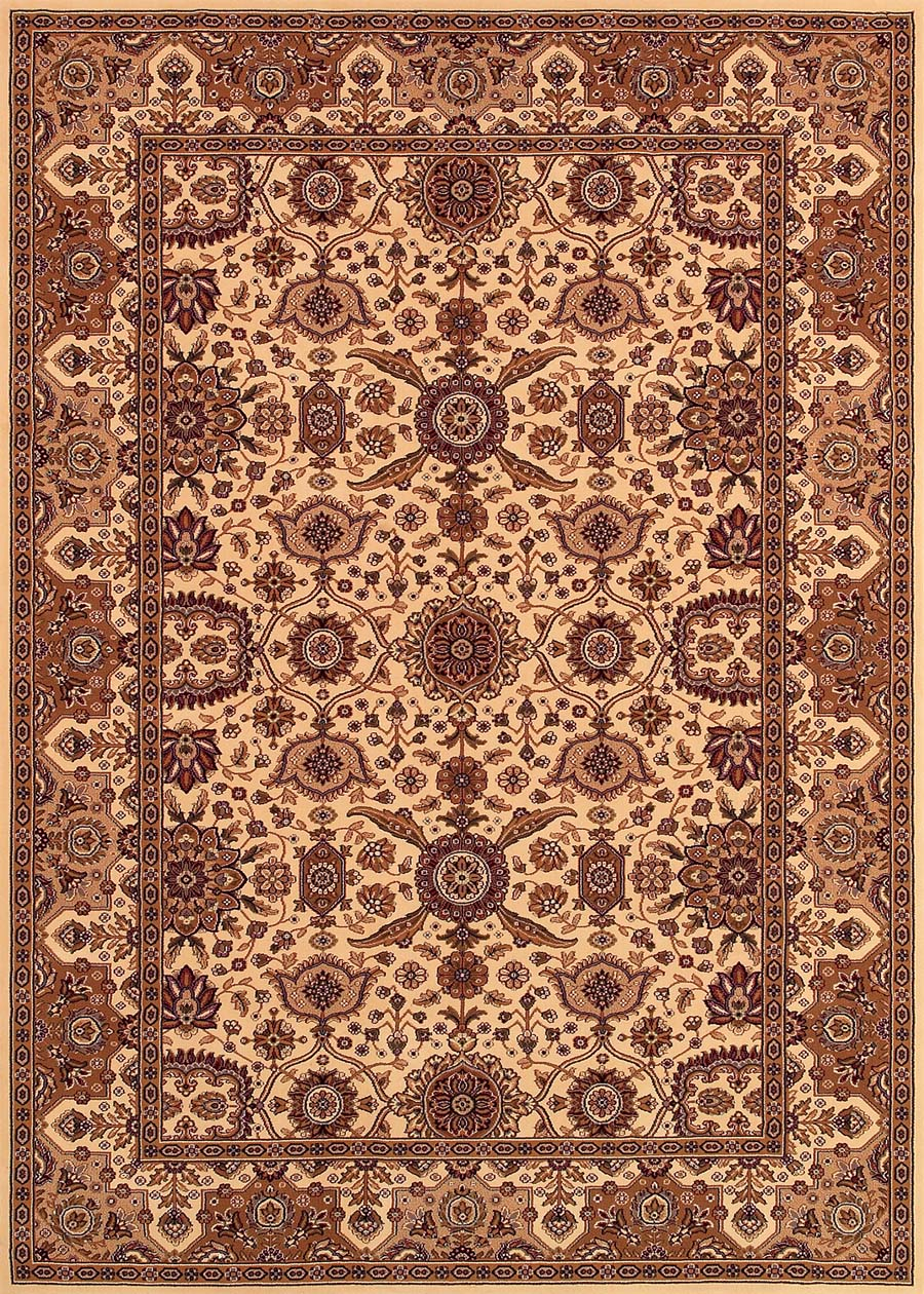 Couristan Himalaya 6288/8516 Kailash Antique Cream/Persian Red Rug